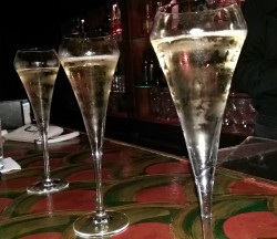 Bubbly at the original Buddha Bar