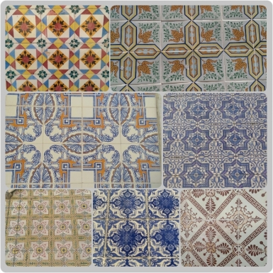 Collage of azulejos