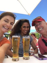 Quenching our thirst! Bea, myself & Robert