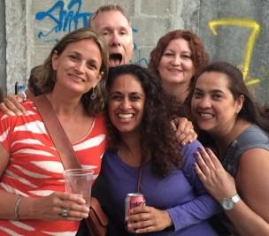 Carolina, Mark, myself, Claudia & Ligia