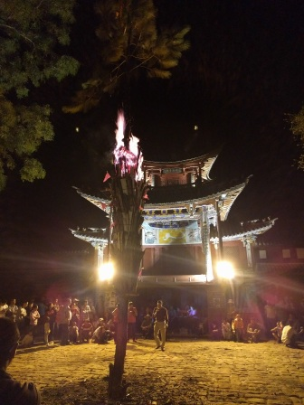 Fire festival in the main square